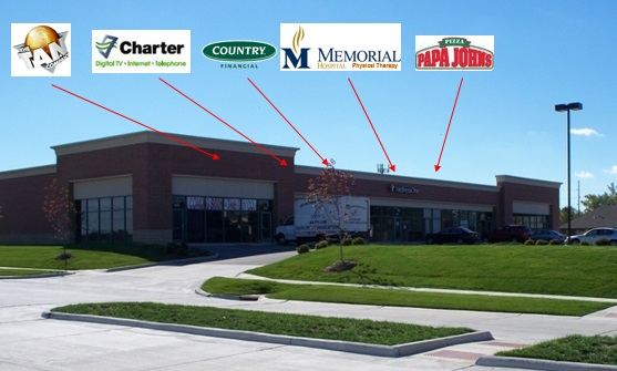 SOLD College Plaza Retail Center on Carlyle Ave. Belleville, IL