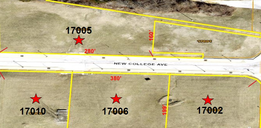 New College Ave. - 4 Lots - 17002, 17005, 17006, 17010 Under Contract