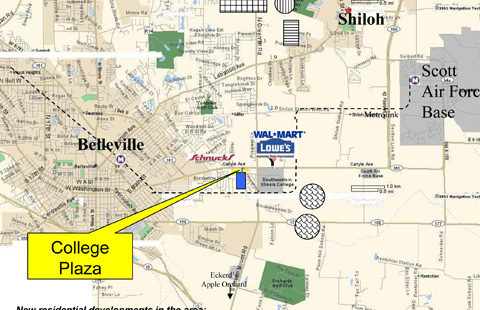 College Plaza Out Lots on Carlyle Avenue in Belleville, IL